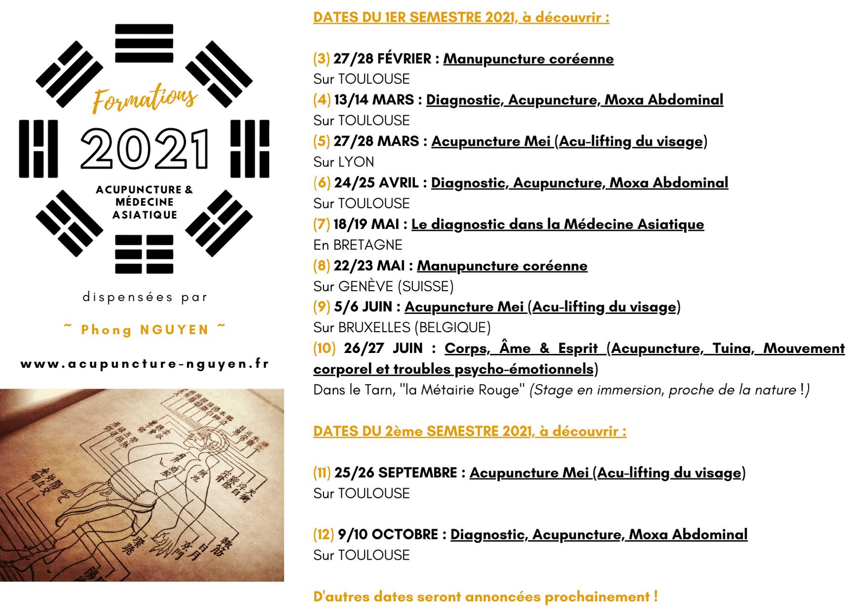 Programme de formation acupuncture 2021